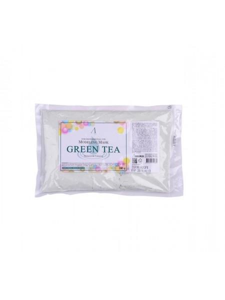 """Маска альгинатная с экстрактом зеленого чая, успокаивающая Green Tea Modeling Mask 240 g """"Anskin"""""""
