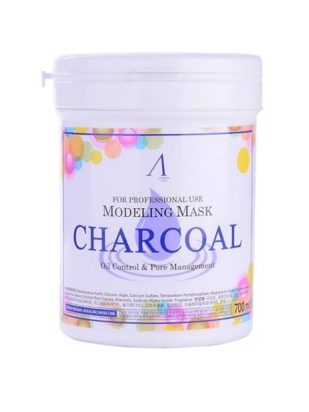 "Альгинатная маска с древесным углем Charcoal Oil Modeling Mask Container 700 мл ""Anskin"""