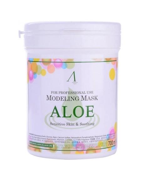 "Альгинатная маска с эктрактом алое Aloe Modeling Mask Container 700 мл ""Anskin"""