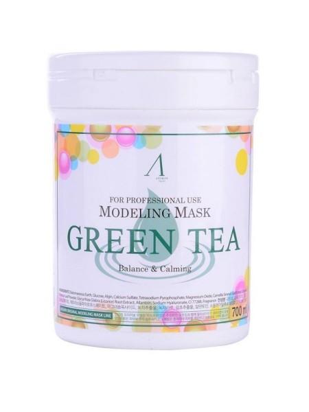 """Альгинатная маска с зелёным чаем Green Tea Modeling Mask Container 700 мл """"Anskin"""""""