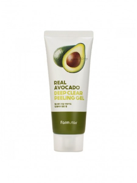 "Пилинг-гель с экстрактом авокадо Real Avocado Deep Clear Peeling Gel ""Farm Stay"""