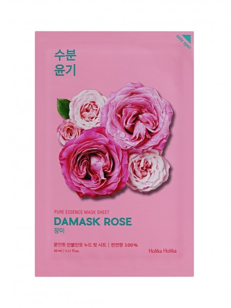 "Увлажняющая тканевая маска Дамасская роза Pure Essence Mask Sheet Damask Rose ""Holika Holika"""
