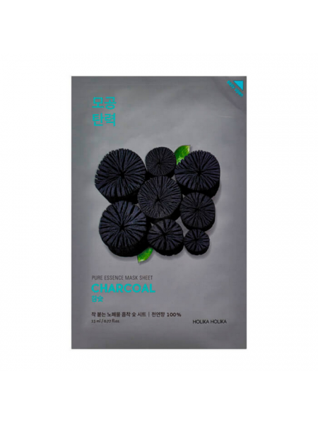"Тканевая маска Pure Essence Mask Sheet Charcoal ""Holika Holika"""