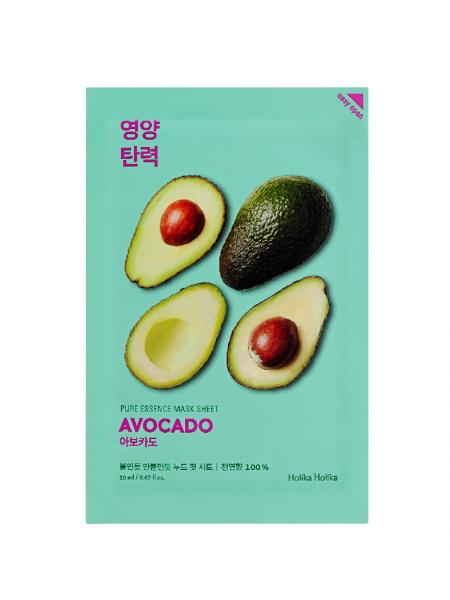 """Смягчающая тканевая маска для лица с экстрактом авокадо. 20 мл """"Holika Holika"""""""