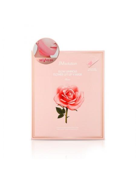 """Лифтинг маска-бандаж Lift-up V Mask Rose с экстрактом Розы 20 гр """"JMsolution"""""""