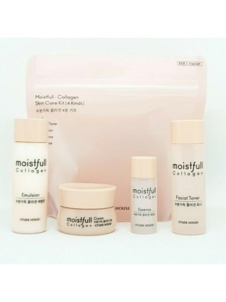 "Мини-набор средств для лица с коллагеном Moistfull Collagen Skin Care 4pcs Kit ""Etude House"""
