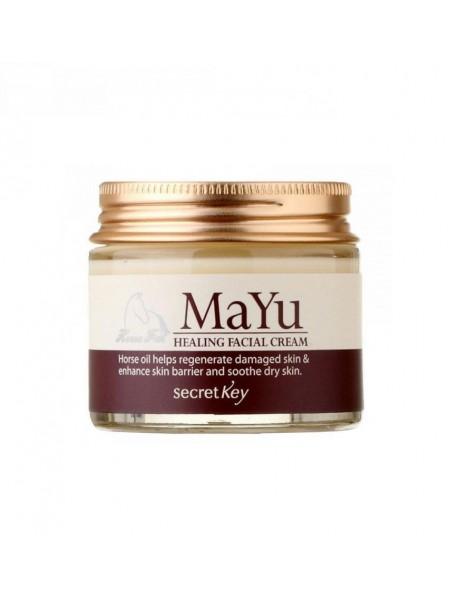 """Крем для лица с лошадиным жиром MaYu Healing Facial Cream, 70 г """"Secret Key"""""""