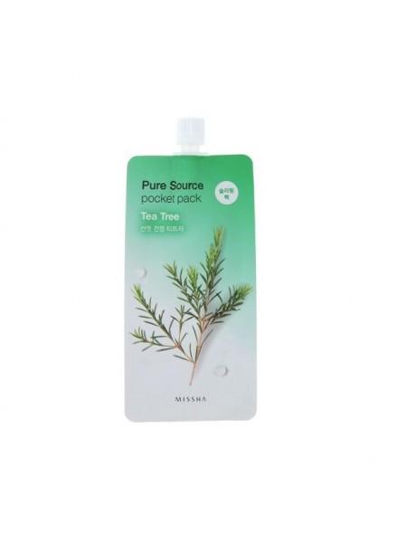 """Ночная маска Pure Source Pocket Pack Tea Tree 10 мл """"MISSHA"""""""