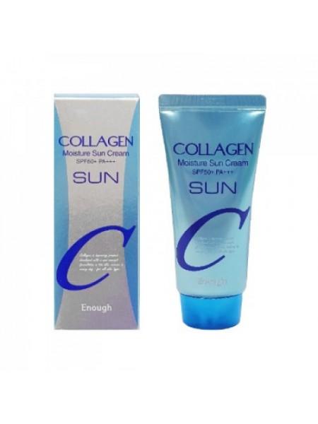 "Увлажняющий солнцезащитный крем с коллагеном Enough Collagen Moisture Sun Cream SPF50+ PA++ ""Enough"""