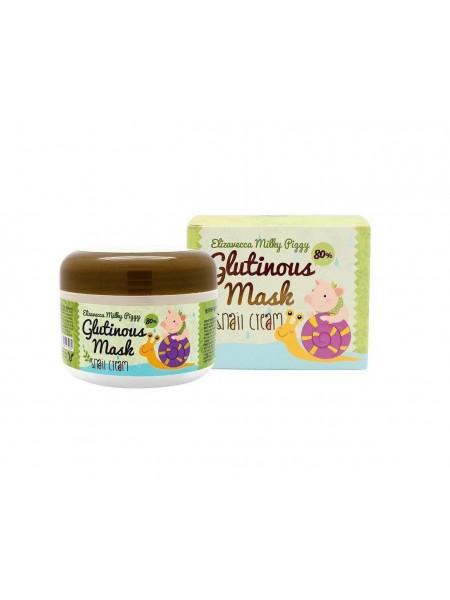 """Ночная крем-маска для лица с муцином улитки Milky Piggy Glutinous 80% Mask """"Elizavecca"""""""