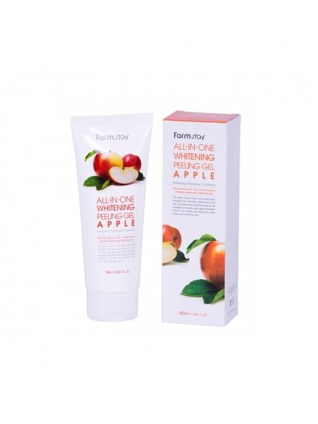 """Гель All-in-one Whitening Apple, 180 мл """"Farm Stay"""""""