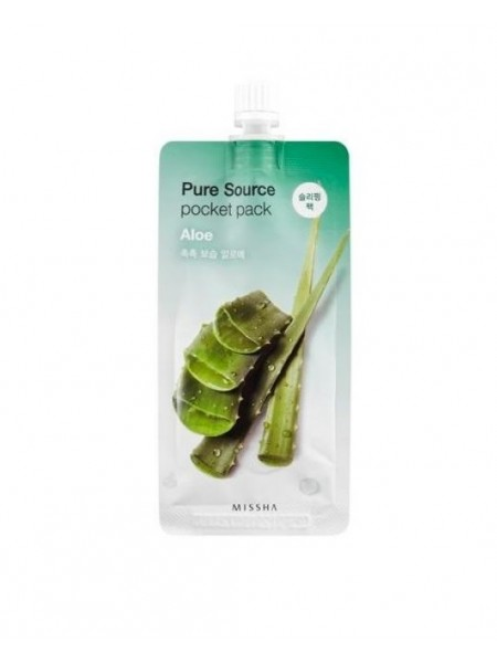 """Ночная маска Pure Source Pocket Pack Aloe 10 мл """"MISSHA"""""""