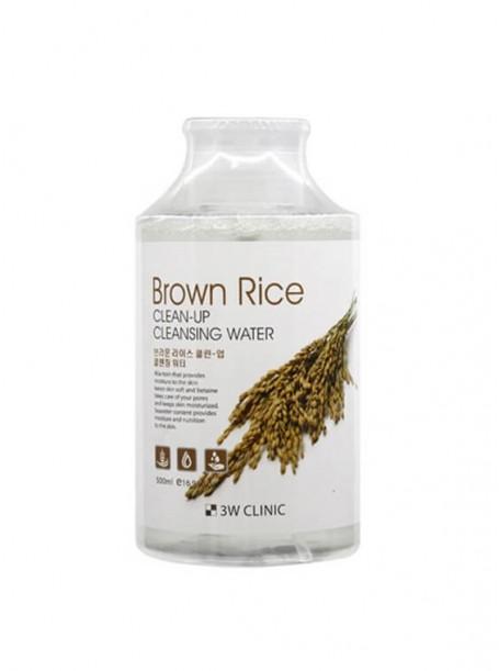 "Очищающая вода Brown Rice, 500 мл ""3W Clinic"""