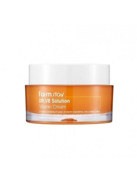 "Крем для лица Dr.V8 Solution Vitamin Cream 50 мл ""Farm Stay"""
