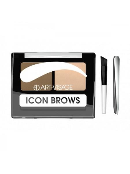 """Двойные тени для бровей ICON BROWS  """"Art-Visage"""""""