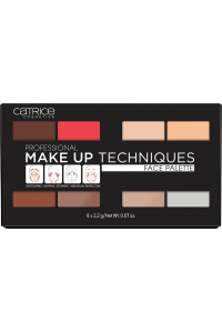 "Палетка для макияжа лица: пудра, бронзер, румяна, хайлайтер Professional Make Up Techniques Face Palette 010 ""Сatrice"""