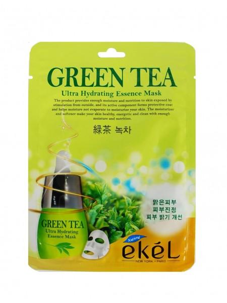"""Маска тканевая противовоспалительная и себорегулирующая с экстрактом зеленого чая """"Ekel"""""""