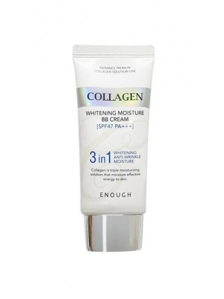 "BB крем с морским коллагеном Collagen 3 in1 Whitening Moisture 3 in SPF47 PA+++, 50г ""Enough"""
