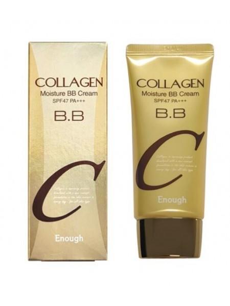"Коллагеновый увлажняющий бб крем Collagen Moisture BB Cream SPF47PA+++, 50ml  ""Enough"""