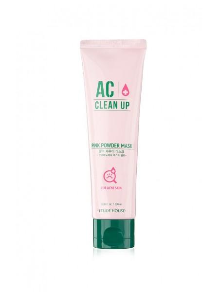 """Маска для проблемной кожи AC Clean Up Pink Powder Mask, 100 мл, с дозатором """"Etude House """""""