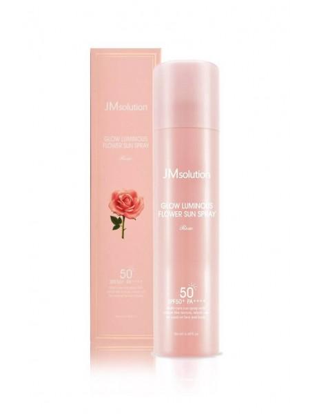 """Солнцезащитный мист-спрей для лица с экстрактом розы """"JMsolution"""""""