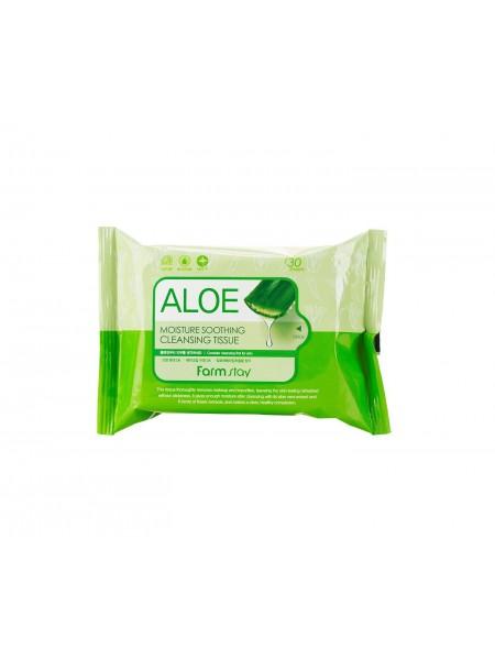 "Очищающие увлажняющие салфетки, 30шт Aloe ""Farm Stay"""
