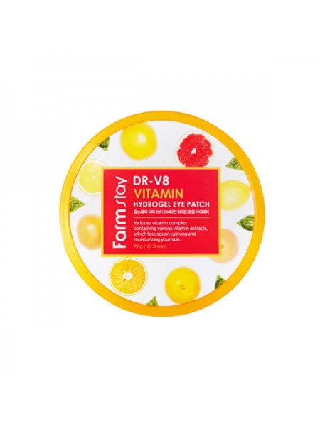 "Патчи для век DR-V8 Vitamin Hydrogel Eye Patch ""FarmStay"""