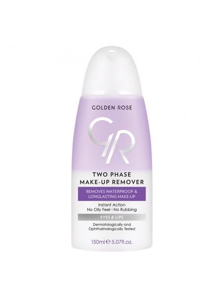 Жидкость для снятия макияжа с глаз и губ  TWO PHASE MAKE-UP REMOVER «Golden Rose»