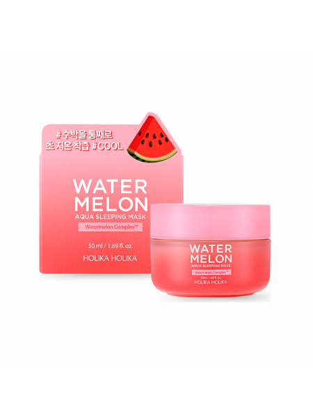 "Увлажняющая ночная маска с экстрактом арбуза Water Melon Aqua Sleeping Mask ""Holika Holika"""