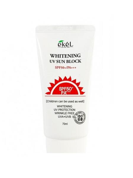 """Солнцезащитный крем для лица Ekel Whitening UV Sun Block SPF 50+/PA+++ """"Ekel"""""""