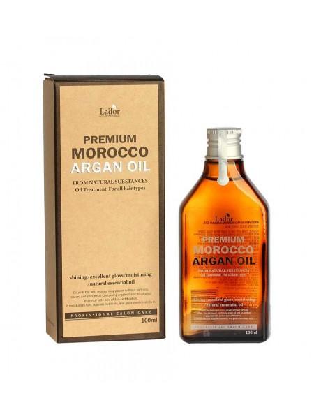 """Восстанавливающее аргановое масло для волос Premium Morocco Argan Hair Oil, 100 мл """"Lador"""""""