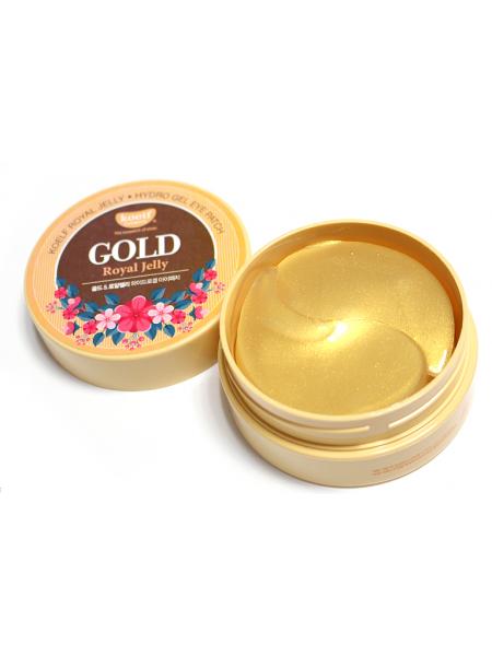 "Патчи с золотом и маточным молоком Gold & Royal Jelly Hydro Gel Eye Patch ""KOELF"""