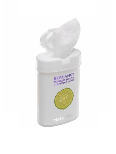 """Очищающие салфетки для кистей с маслом бергамота, КО15 50 шт  """"ManlyPro"""""""