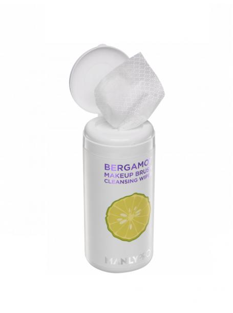 """Очищающие салфетки для кистей с маслом бергамота, КО14 100 шт  """"ManlyPro"""""""