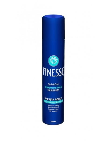 """Лак для волос экстрасильной фиксации - 200 мл """"FINESSE"""""""