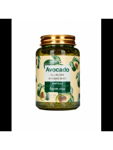 "Сыворотка ампульная многофункциональная с экстрактом авокадо / All-In-One Ampoule 250 мл ""Farm Stay"""