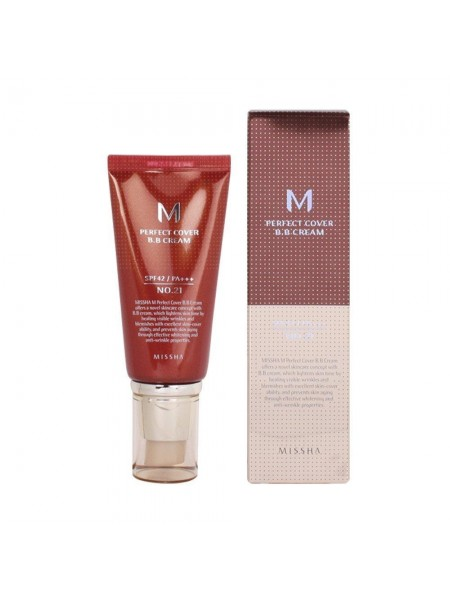 "BB крем для лица 50 мл M Perfect Cover BB Cream SPF42/PA+++ ""MISSHA"""