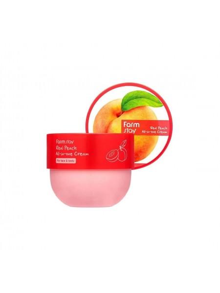 """Антивозрастной крем с экстрактом персика, Real Fruits 300 мл """"Farm Stay"""""""