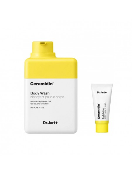 """Косметический набор Ceramidin Лосьон для тела, 250 мл + Гель для душа, 30 мл """"Dr. Jart+"""""""