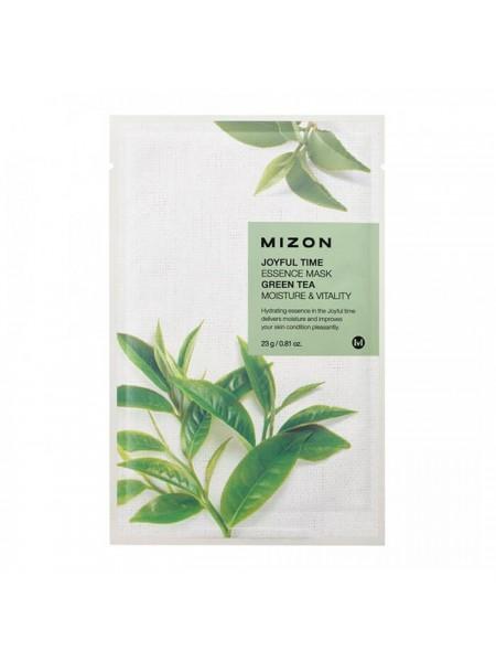 """Тканевая маска с эссенцией из натуральных экстрактов 23г Green Tea """"Mizon"""""""