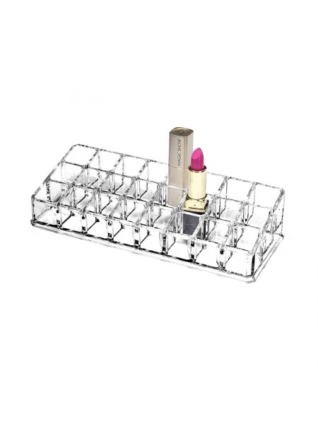 Органайзер косметический подставка для помад 24 ячейки
