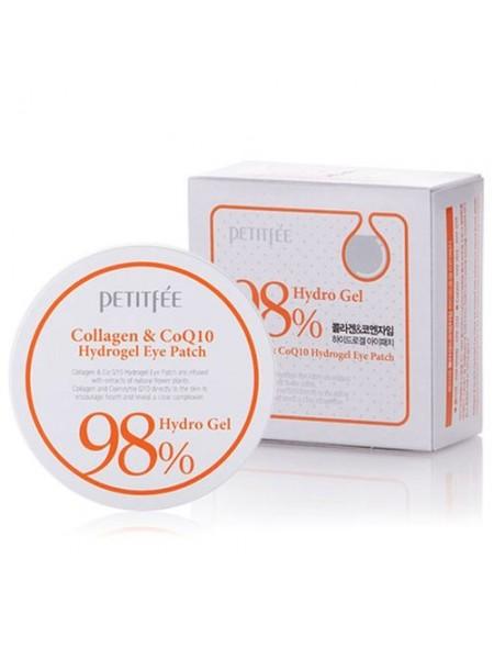"""Гидрогелевые патчи с коллагеном  Collagen&CoQ10 Hydrogel Eye Patch """"Petitfee"""""""