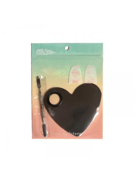 "Палитра SILVER HEART для смешивания Silver Heart + шпатель (металл) ""ProVG"""
