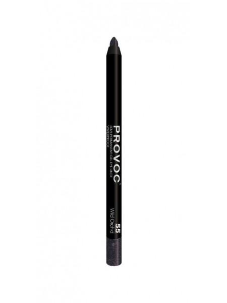 """Гелевый водостойкий карандаш-подводка для глаз 55 """"Provoc"""""""