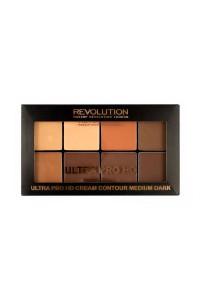 """Палетка для контурирования кремовая - HD Pro Cream Contour - Medium Dark """"Makeup Revolution"""""""