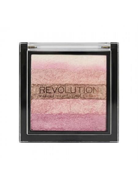 "Хайлайтер Vivid Shimmer Brick Pink Kiss ""Revolution"""