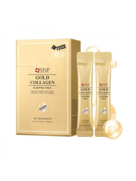 """Ночная маска на основе золота и коллагена Gold Collagen Sleeping Pack  """"SNP"""""""