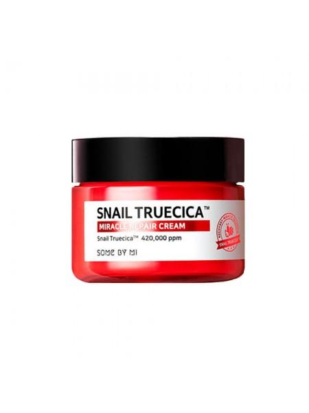 "Восстанавливающий крем с муцином чёрной улитки Snail Truecica Miracle Repair ""Some By Mi"""